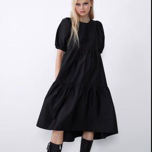 Zara NWT asymmetrical poplin Dress